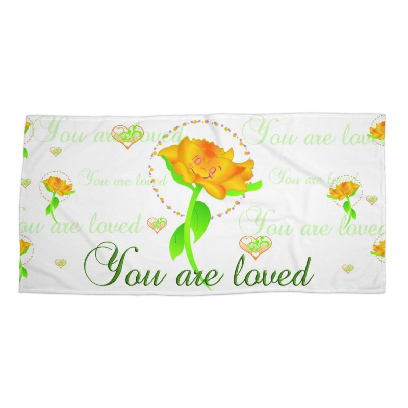You are Loved mug/waterbottle Accessories Beach Towel by MyInspirationalGifts Artist Shop