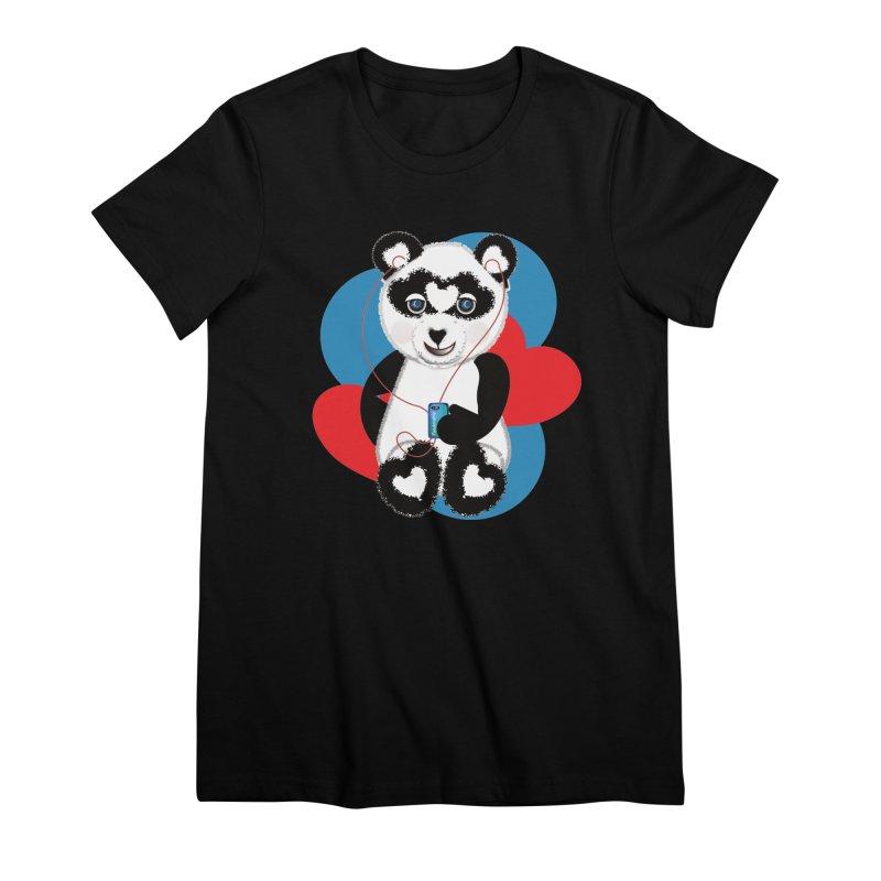 Pandorable Panda Women's Premium T-Shirt by MyInspirationalGifts Artist Shop