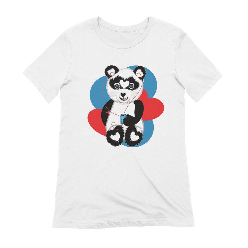 Pandorable Panda Women's Extra Soft T-Shirt by MyInspirationalGifts Artist Shop