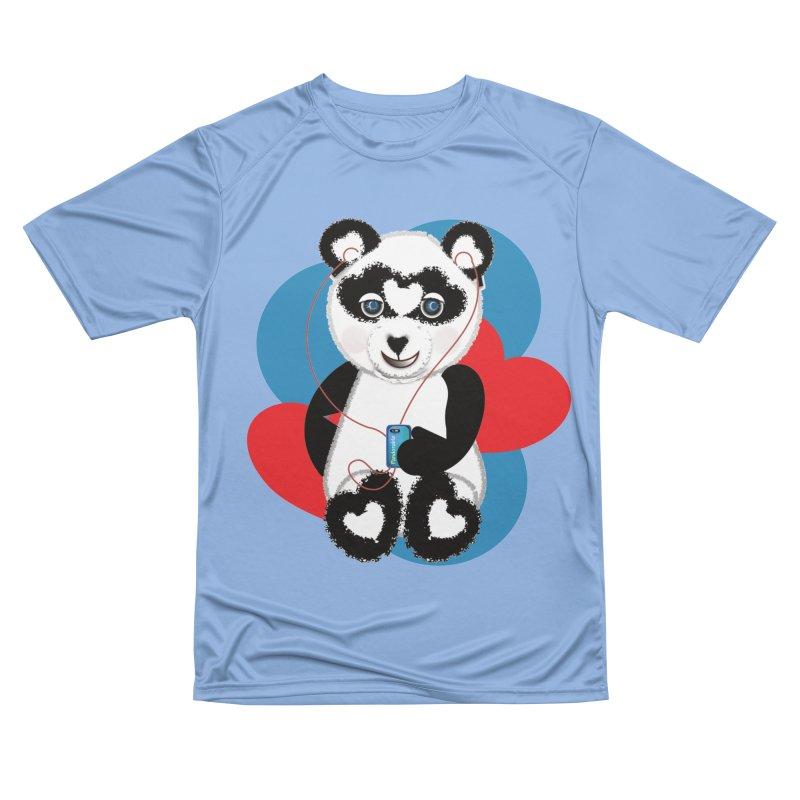 Pandorable Panda Women's Performance Unisex T-Shirt by MyInspirationalGifts Artist Shop