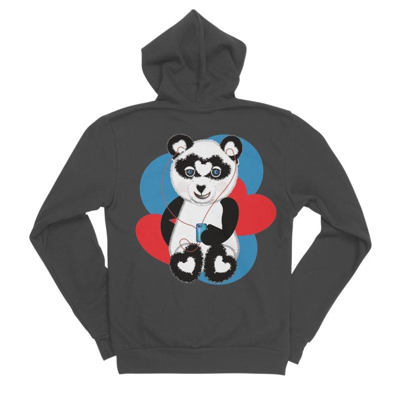 Pandorable Panda Women's Sponge Fleece Zip-Up Hoody by MyInspirationalGifts Artist Shop