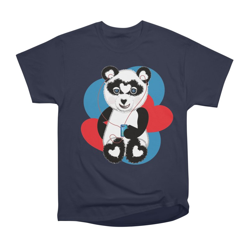 Pandorable Panda Women's Heavyweight Unisex T-Shirt by MyInspirationalGifts Artist Shop