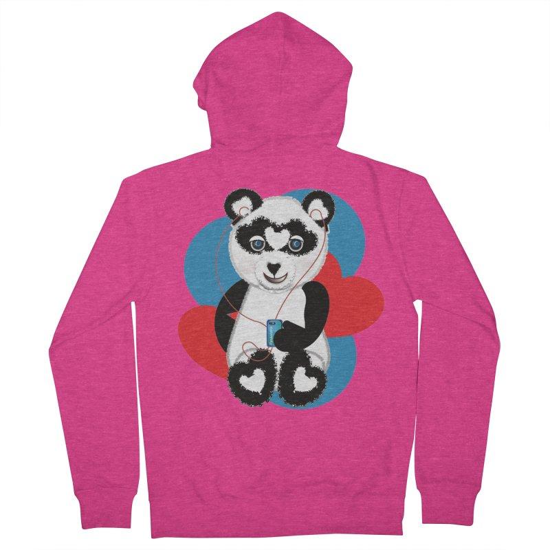 Pandorable Panda Women's French Terry Zip-Up Hoody by MyInspirationalGifts Artist Shop