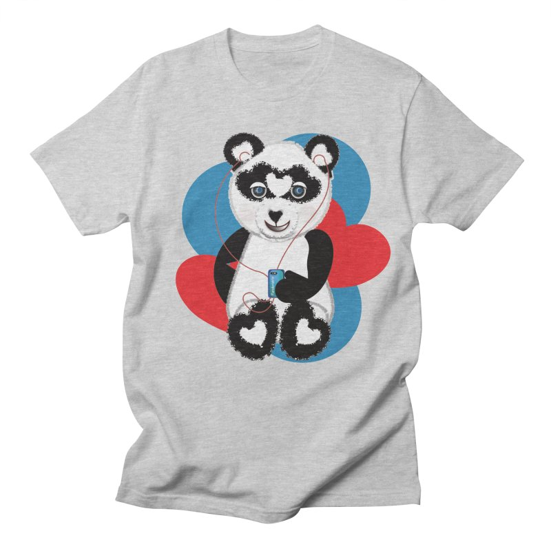 Pandorable Panda Women's Regular Unisex T-Shirt by MyInspirationalGifts Artist Shop