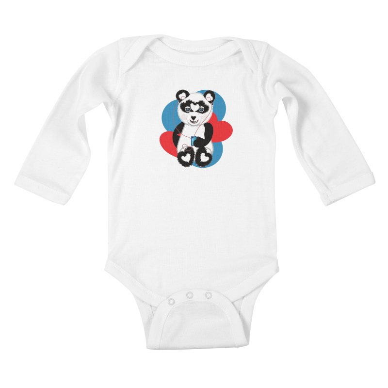 Pandorable Panda Kids Baby Longsleeve Bodysuit by MyInspirationalGifts Artist Shop