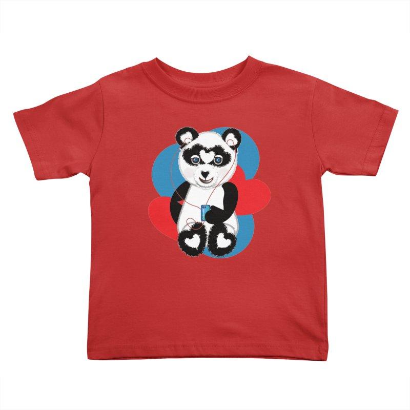 Pandorable Panda Kids Toddler T-Shirt by MyInspirationalGifts Artist Shop