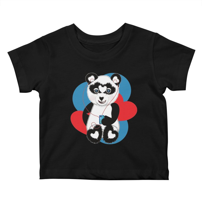 Pandorable Panda Kids Baby T-Shirt by MyInspirationalGifts Artist Shop