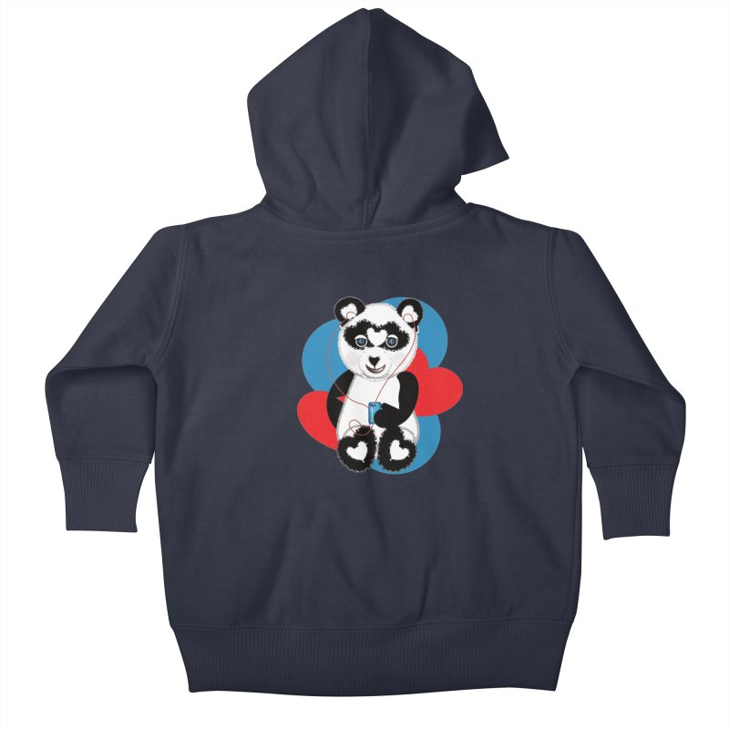 Pandorable Panda Kids Baby Zip-Up Hoody by MyInspirationalGifts Artist Shop
