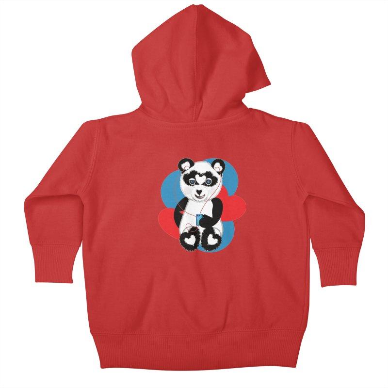 Pandorable Panda Kids Baby Zip-Up Hoody by MyInspirationalGifts Artist Shop
