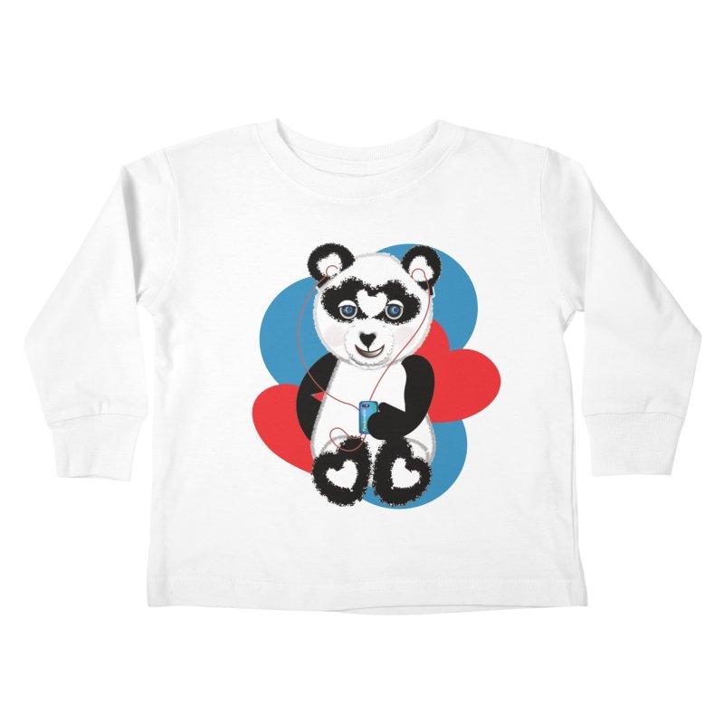 Pandorable Panda Kids Toddler Longsleeve T-Shirt by MyInspirationalGifts Artist Shop
