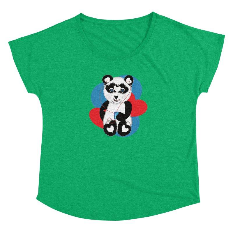Pandorable Panda Women's Dolman Scoop Neck by MyInspirationalGifts Artist Shop
