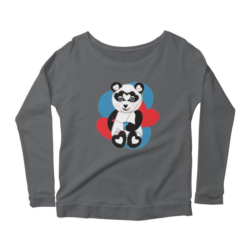 Pandorable Panda Women's Scoop Neck Longsleeve T-Shirt by MyInspirationalGifts Artist Shop