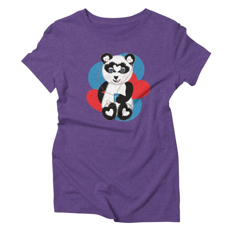 Pandorable Panda Women's Triblend T-Shirt by MyInspirationalGifts Artist Shop