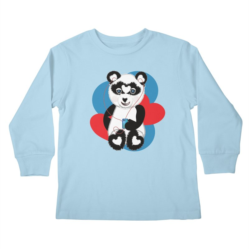 Pandorable Panda Kids Longsleeve T-Shirt by MyInspirationalGifts Artist Shop