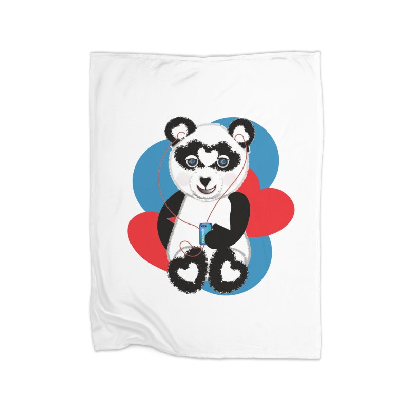 Pandorable Panda Home Fleece Blanket Blanket by MyInspirationalGifts Artist Shop