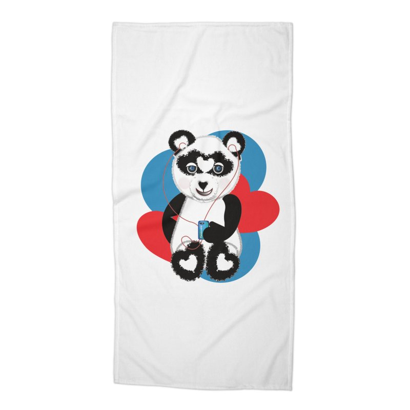 Pandorable Panda Accessories Beach Towel by MyInspirationalGifts Artist Shop