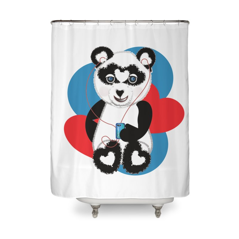 Pandorable Panda Home Shower Curtain by MyInspirationalGifts Artist Shop