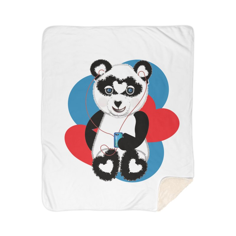 Pandorable Panda Home Sherpa Blanket Blanket by MyInspirationalGifts Artist Shop