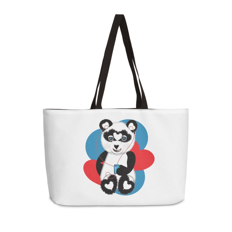 Pandorable Panda Accessories Weekender Bag Bag by MyInspirationalGifts Artist Shop
