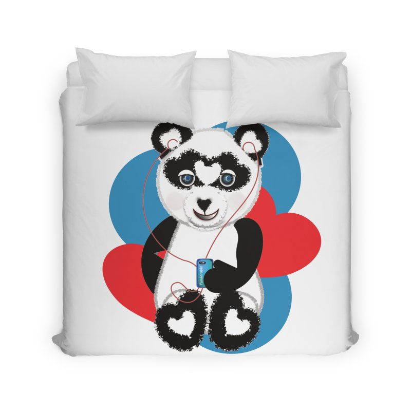 Pandorable Panda Home Duvet by MyInspirationalGifts Artist Shop