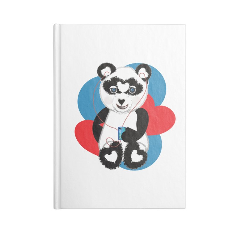 Pandorable Panda Accessories Lined Journal Notebook by MyInspirationalGifts Artist Shop