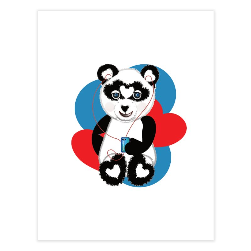 Pandorable Panda Home Fine Art Print by MyInspirationalGifts Artist Shop