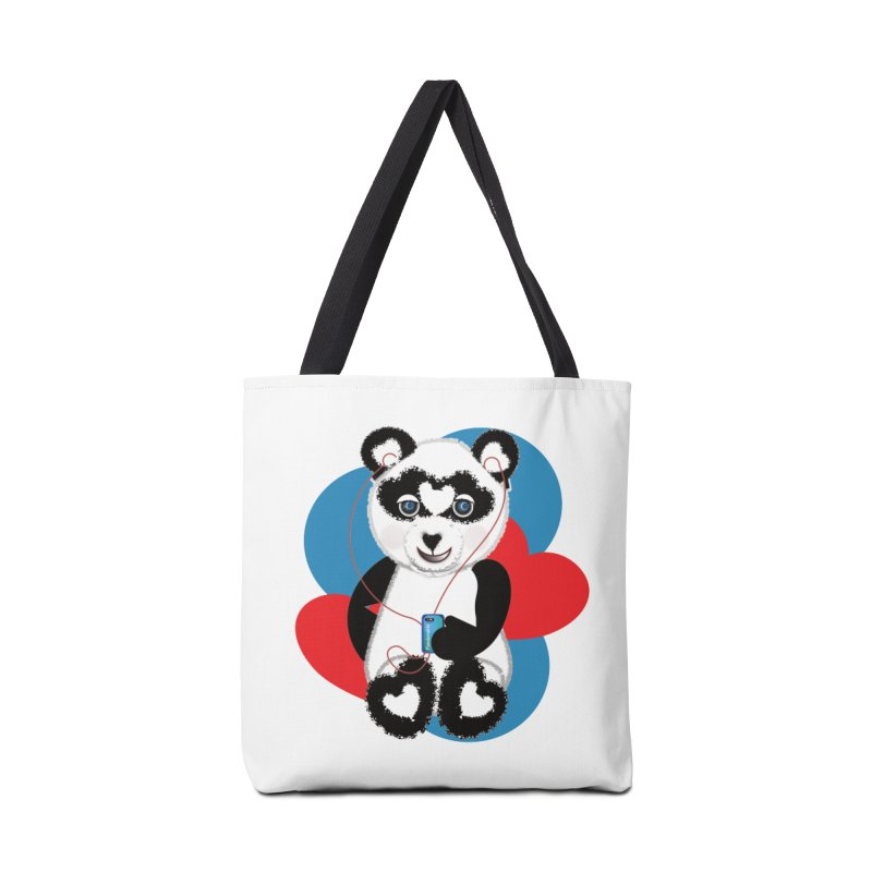 Pandorable Panda Accessories Tote Bag Bag by MyInspirationalGifts Artist Shop