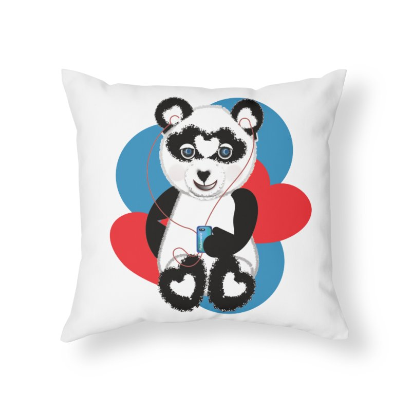 Pandorable Panda Home Throw Pillow by MyInspirationalGifts Artist Shop