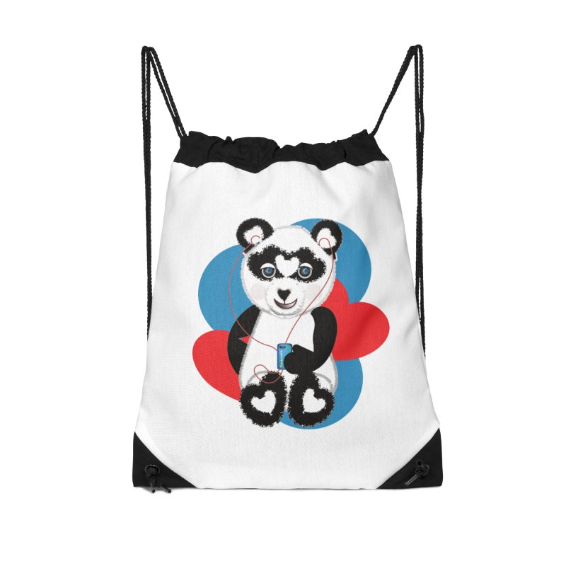 Pandorable Panda Accessories Drawstring Bag Bag by MyInspirationalGifts Artist Shop