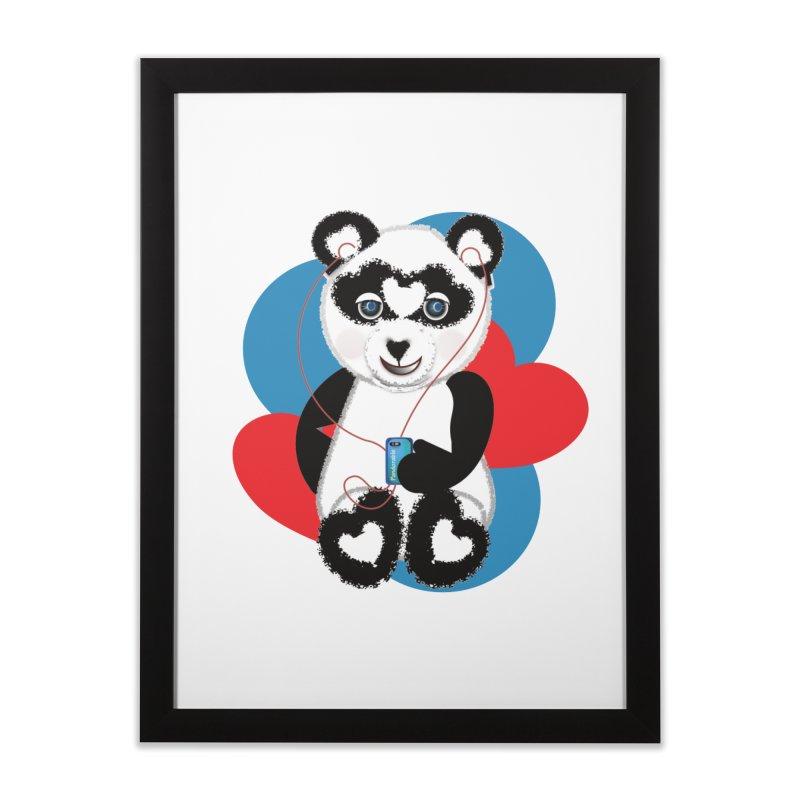 Pandorable Panda Home Framed Fine Art Print by MyInspirationalGifts Artist Shop