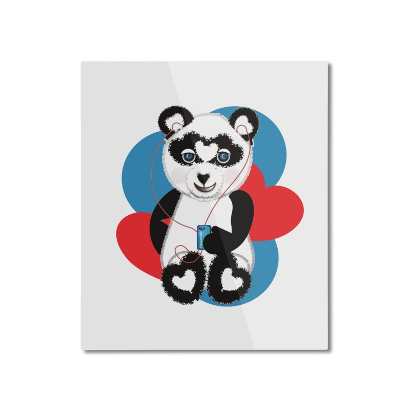 Pandorable Panda Home Mounted Aluminum Print by MyInspirationalGifts Artist Shop
