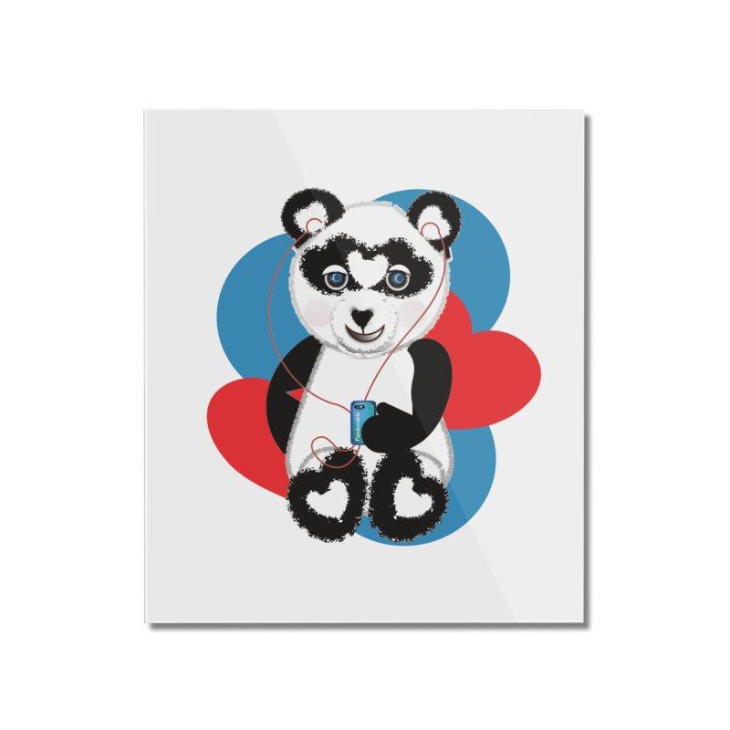 Pandorable Panda Home Mounted Acrylic Print by MyInspirationalGifts Artist Shop