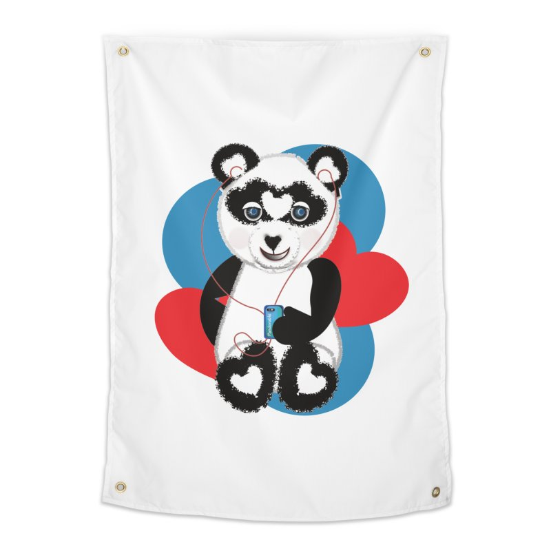 Pandorable Panda Home Tapestry by MyInspirationalGifts Artist Shop