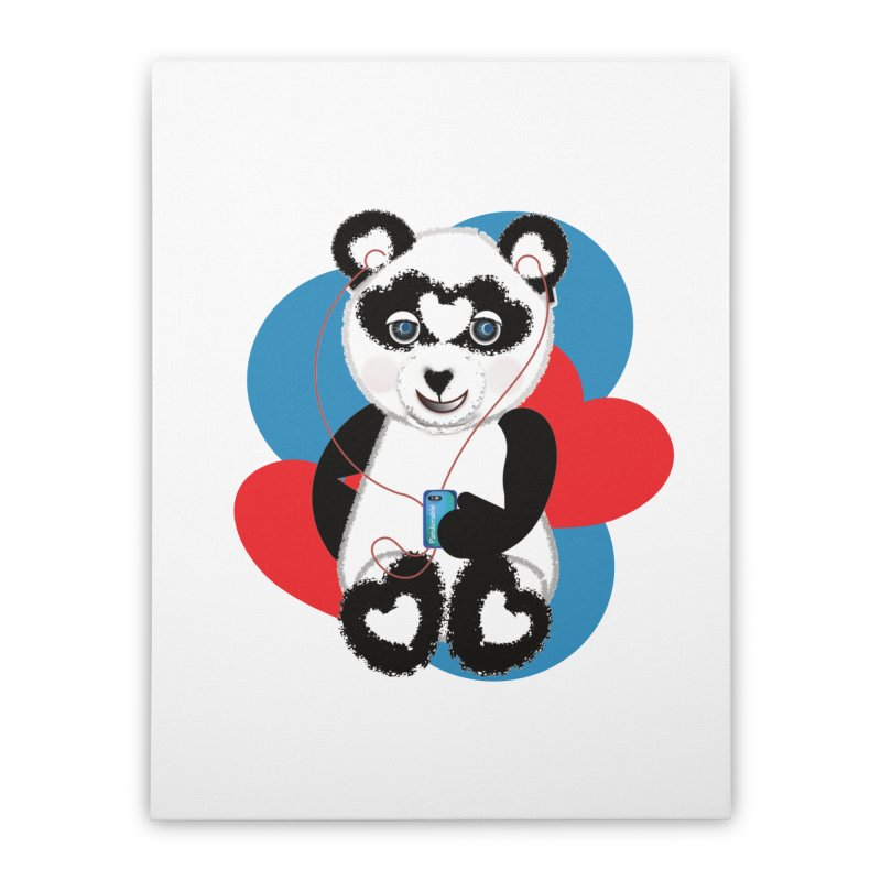 Pandorable Panda Home Stretched Canvas by MyInspirationalGifts Artist Shop