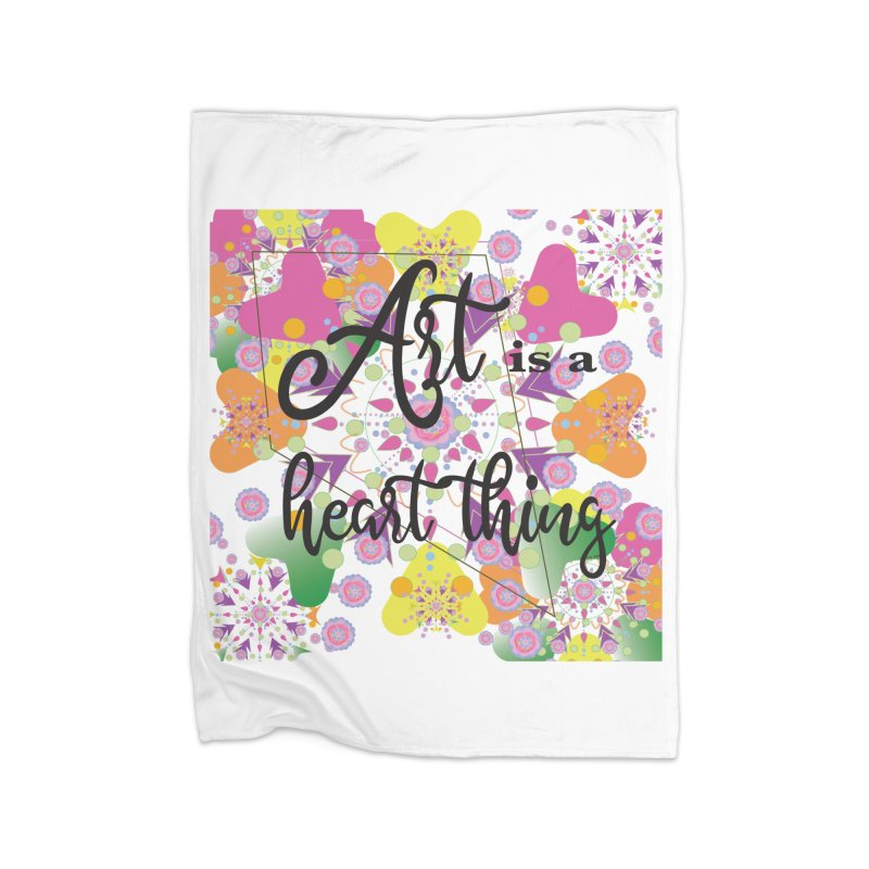 Art is Home Fleece Blanket Blanket by MyInspirationalGifts Artist Shop