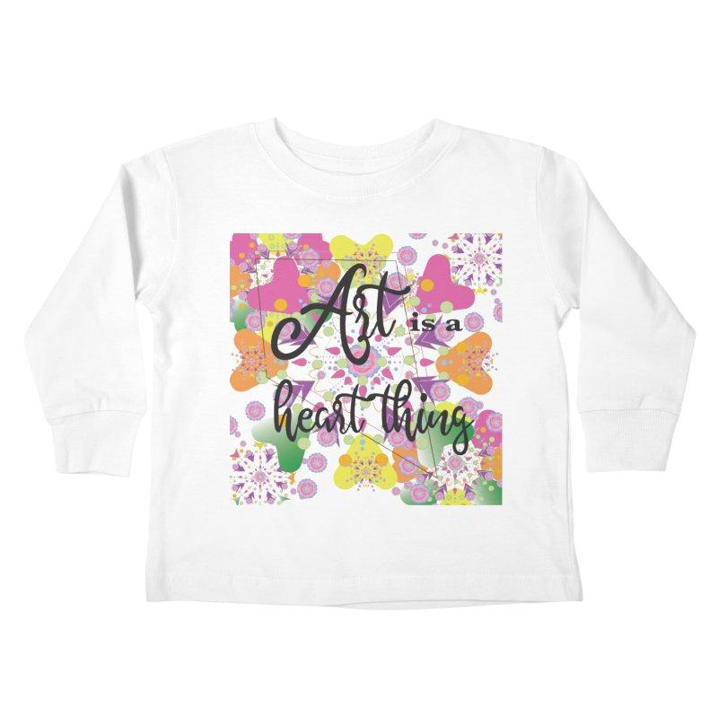 Art is Kids Toddler Longsleeve T-Shirt by MyInspirationalGifts Artist Shop