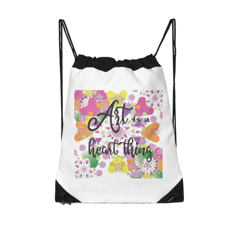 Art is a Heart Thing Accessories Drawstring Bag Bag by MyInspirationalGifts Artist Shop