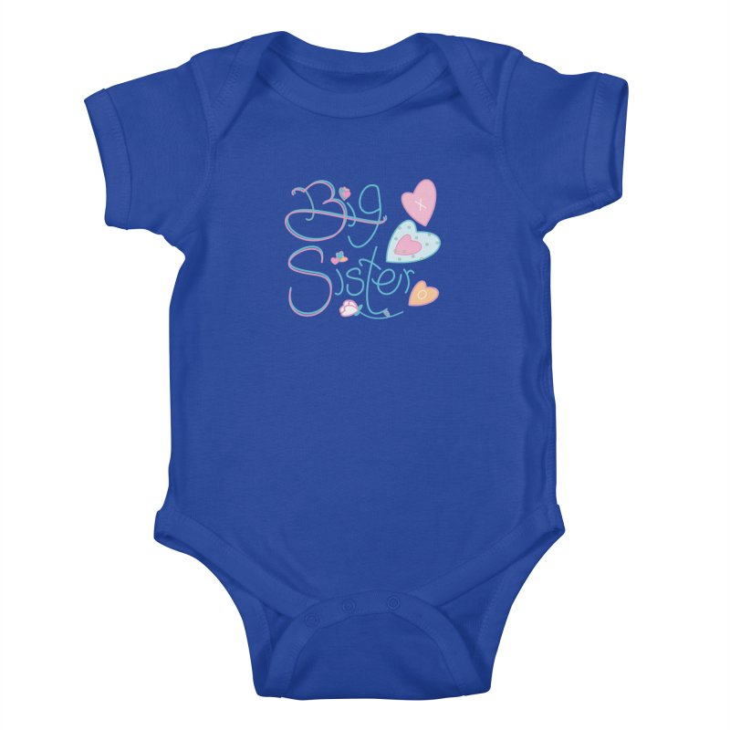 Big Sister Kids Baby Bodysuit by MyInspirationalGifts Artist Shop