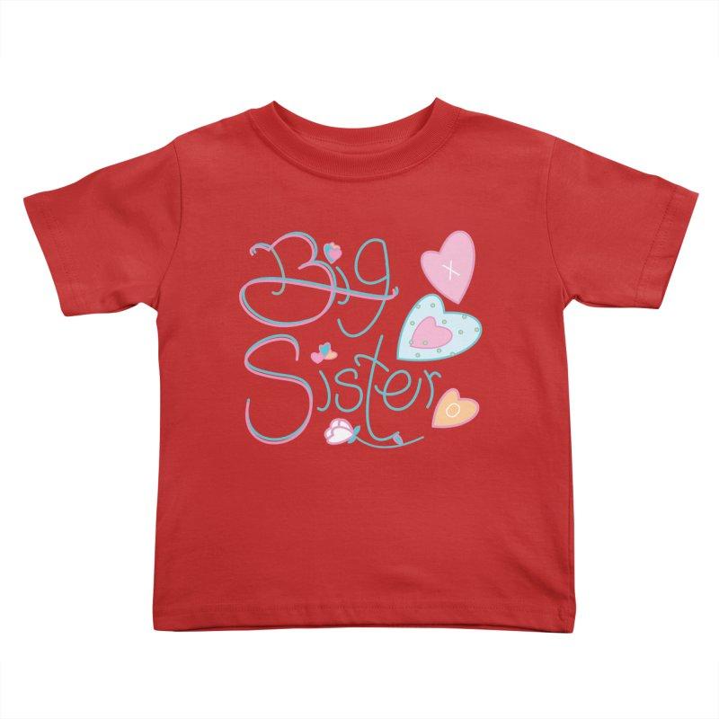 Big Sister Kids Toddler T-Shirt by MyInspirationalGifts Artist Shop