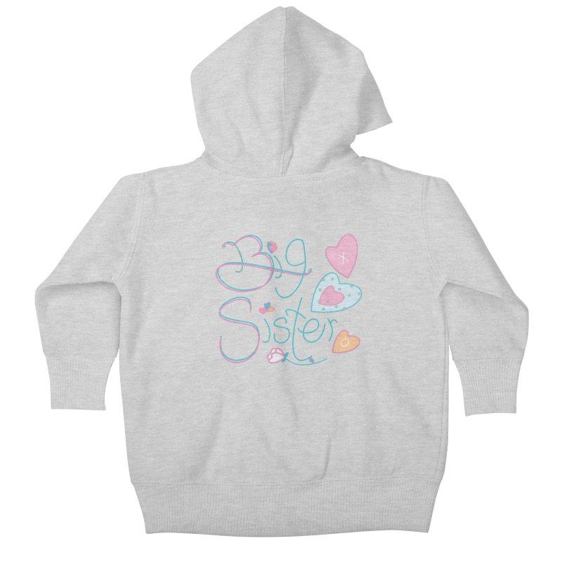 Big Sister Kids Baby Zip-Up Hoody by MyInspirationalGifts Artist Shop