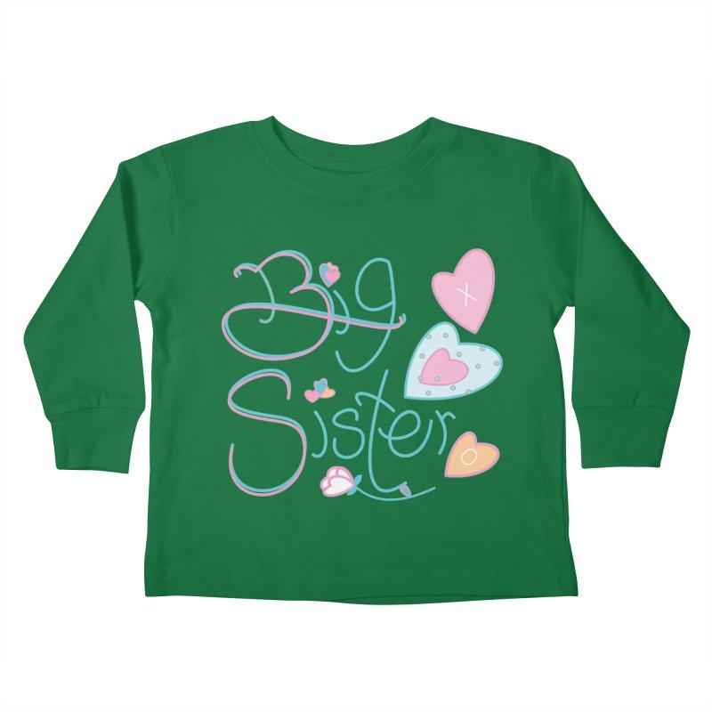 Big Sister Kids Toddler Longsleeve T-Shirt by MyInspirationalGifts Artist Shop