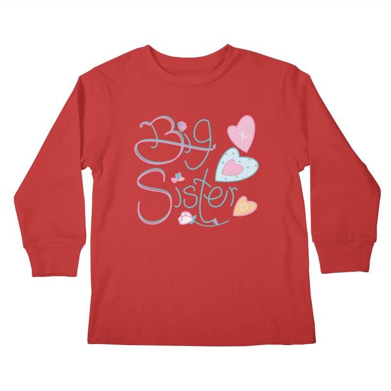 Big Sister Kids Longsleeve T-Shirt by MyInspirationalGifts Artist Shop