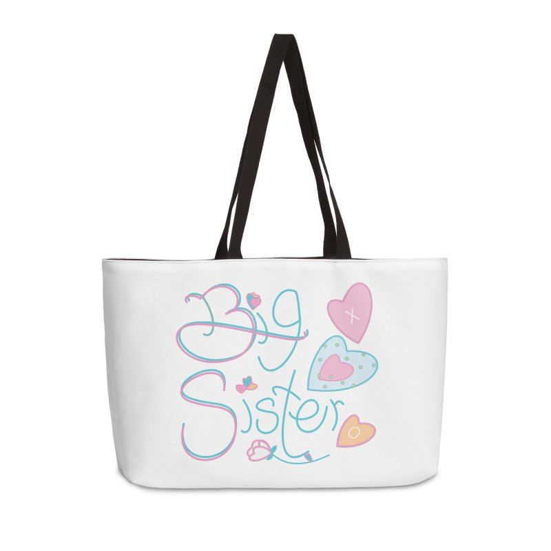 Big Sister Accessories Weekender Bag Bag by MyInspirationalGifts Artist Shop