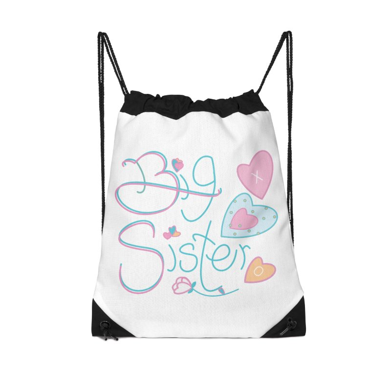 Big Sister Accessories Drawstring Bag Bag by MyInspirationalGifts Artist Shop
