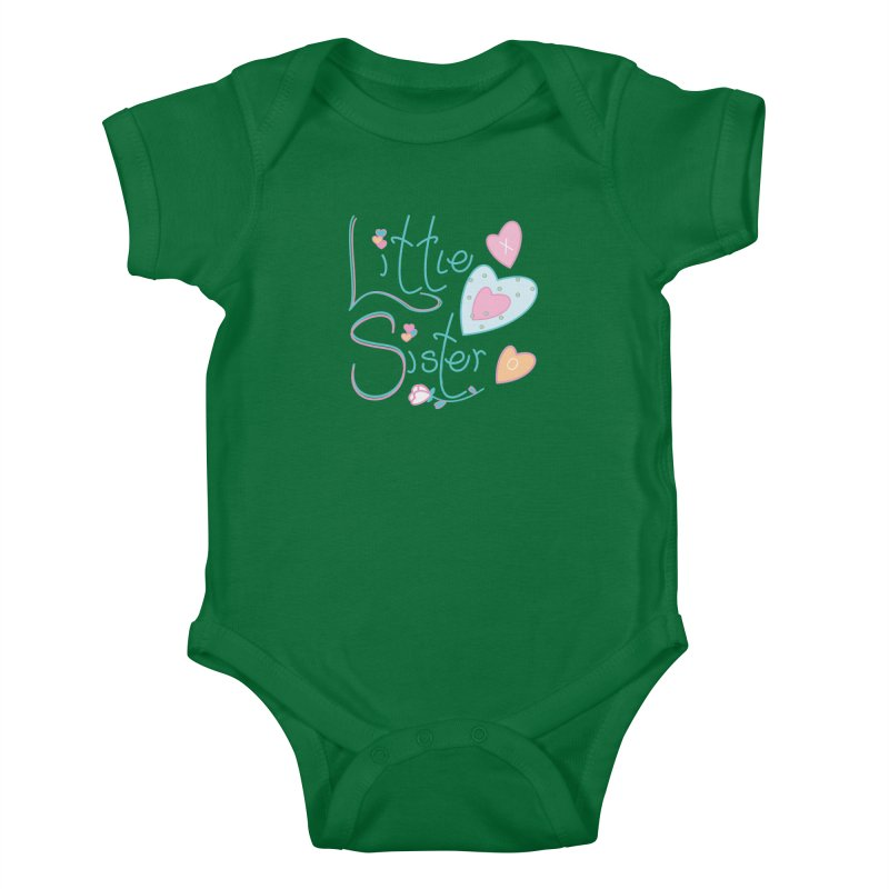 Little Sister Kids Baby Bodysuit by MyInspirationalGifts Artist Shop