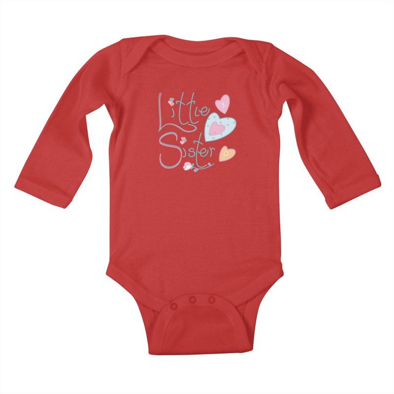 Little Sister Kids Baby Longsleeve Bodysuit by MyInspirationalGifts Artist Shop