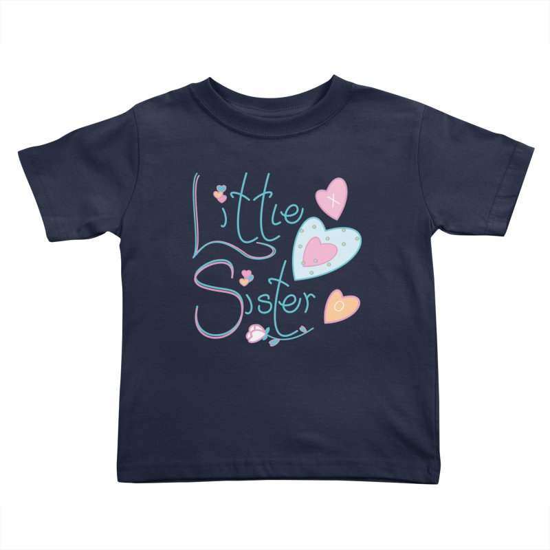 Little Sister Kids Toddler T-Shirt by MyInspirationalGifts Artist Shop