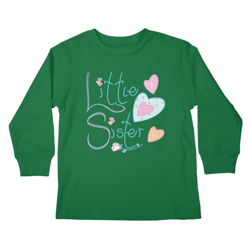 Little Sister Kids Longsleeve T-Shirt by MyInspirationalGifts Artist Shop