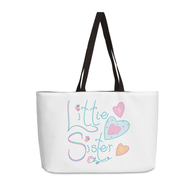 Little Sister Accessories Weekender Bag Bag by MyInspirationalGifts Artist Shop
