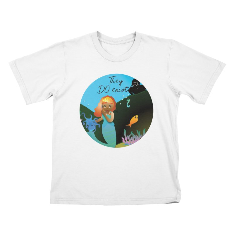 They DO Exist Kids T-Shirt by MyInspirationalGifts Artist Shop